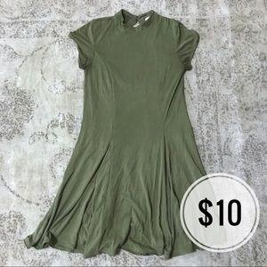 Silence + Noise Army Green Skater Dress